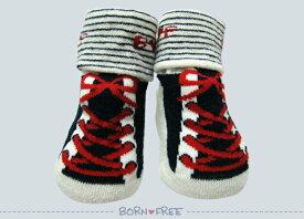 BORN FREE ( ボンフリー ) スニーカー ソックス コン ベビー用品 出産祝い おしゃれ かわいい 日本製 女の子 男の子 赤ちゃん