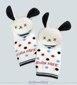 BORN FREE ( ボンフリー ) 鈴入り フットトーイ コン ベビー用品 出産祝い おしゃれ かわいい 日本製 女の子 男の子 赤ちゃん