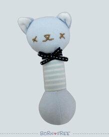 BORN FREE ( ボンフリー ) スティック ガラガラ ブルー ベビー用品 出産祝い おしゃれ かわいい 日本製 女の子 男の子 赤ちゃん