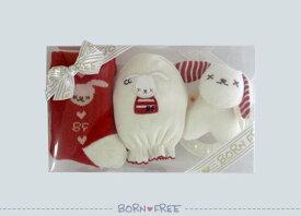 BORN FREE ( ボンフリー ) クリア セット C-4 アカ ベビー用品 出産祝い おしゃれ かわいい 日本製 女の子 男の子 赤ちゃん