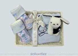 BORN FREE ( ボンフリー ) カゴミニ-5 おでかけ セット ブルー ベビー用品 出産祝い おしゃれ かわいい 日本製 女の子 男の子 赤ちゃん