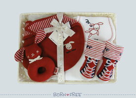 BORN FREE ( ボンフリー ) カゴS-15 お散歩 セット アカ ベビー用品 出産祝い おしゃれ かわいい 日本製 女の子 男の子 赤ちゃん