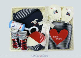 BORN FREE ボンフリー カゴM-13 お祝い セット コン 出産祝い 男の子 女の子 ベビー用品 出産祝い おしゃれ かわいい 日本製 女の子 男の子 赤ちゃん