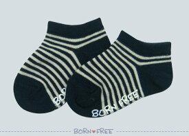 BORN FREE ( ボンフリー ) ボーダーショート ソックス コン ベビー用品 出産祝い おしゃれ かわいい 日本製 女の子 男の子 赤ちゃん