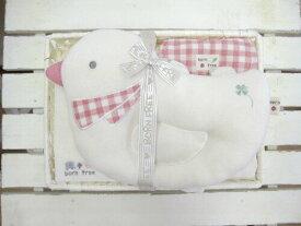 『 Organic natural check born free カゴS-2 ピロー セット トリ 』 ベビー用品 出産祝い おしゃれ かわいい 日本製 女の子 男の子 赤ちゃん