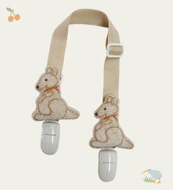 WISH BORN オーガニックコットン ハンカチクリップ カンガルー ベビー用品 出産祝い おしゃれ かわいい 日本製 女の子 男の子 赤ちゃん
