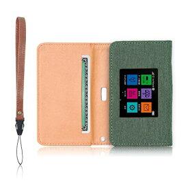 Pocket WiFi 603HW 専用 モバイルルーター ケース 保護フィルム 付 (グリーン)
