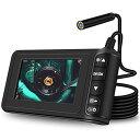 ROTEK 検査カメラ 内視鏡 工業用 家庭掃除 ファイバースコープ スネークカメラ 32Gカード付き 8mmレンズ 4.3インチス…