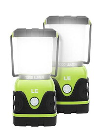 LE LEDランタン キャンプランタン 超高輝度1000ルーメン 電池式 昼白色と電球色切替 4つ点灯モード 無段階調光調色 防滴仕様 アウト