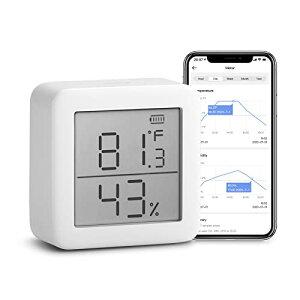 「Works with Alexa認定」SwitchBot 温湿度計 デジタル スマート家電 高精度 スイス製センサー スマホで温度湿度管理 熱中症対策 ア
