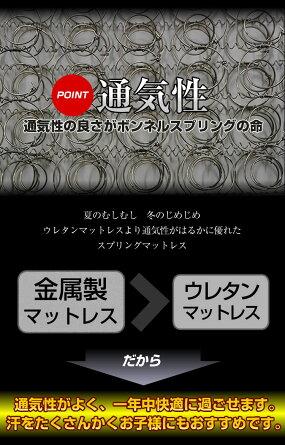【送料無料】マットレスボンネルコイル【ダブル】BB102B【プライオリティ対応】