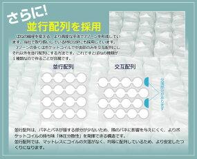 ポケットonポケットマットレスシングルEN355PP3ゾーン構造コンパクト梱包