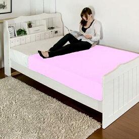 ベッド セミダブル 棚 コンセント 照明 引き出し 付き カントリー調 二つ折りボンネルコイルマットレス付(代引不可)【送料無料】【S1】