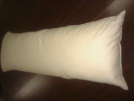 ●国産オリジナル羽根ロング枕抱き枕カバー付き水鳥フェザー100%43x120cm別注OK!!