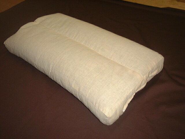 ●国産オリジナル・夏も冬も涼しい麻混生地・活性炭配合パイプ枕高さ調整できる30x50x5cm丸洗い
