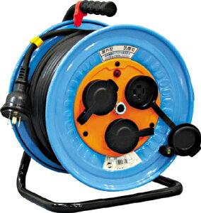 日動 電工ドラム 防雨防塵型三相200V 3.5sq電線アース付 30m 【1台】【DNWE330F20A】(コードリール・延長コード/コードリール200V)