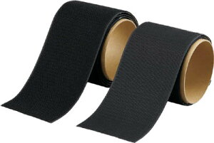 TRUSCO(トラスコ) マジックテープセット 強粘着 幅100mmX長さ1m 黒 【1S】【TMSD100BK】(梱包結束用品/結束バンド)