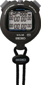 SEIKO ストップウオッチソーラー スタンダード ブラック 【1個】【SVAJ001】(計測機器/ストップウォッチ・タイマー)