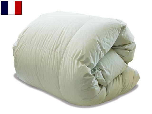 羽毛布団 ダウン フレンチマザーペアタイプダウン羽毛布団 (セミダブルサイズ) (シングルベッド対応)