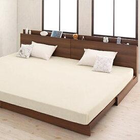 ベッド ベット 連結可能 連結セット ブラウン 幅:200cm以上 奥行き:200cm以上 高さ:70cm〜79cm キャスター付き 既成品 カジュアル シンプル デザイナーズ 木製 ウレタン すのこ コンセント付き 棚付き 設置対応可 組立対応可 要組立品 木 ベトナム 茶 ブラウン 210cm