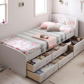 シングルベッド 小さい 収納 カントリー ベット シングルベッド シングルサイズ シングルタイプ 小さな 小さめ コンパクト 80cm 90cm 省スペース コンパクトサイズ 収納付き 大容量 収納タイプ 収納つき 大容量ベッド カントリータイプ 小さいベッド 収納ベッド カントリー