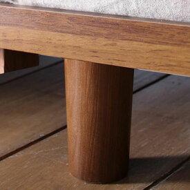 ベッド ベット ブラウン 高さ:19cm以下 既成品 アジアン カジュアル カントリー 木 中国 茶 ブラウン アジアン シンプル カジュアル 木材 送料無料