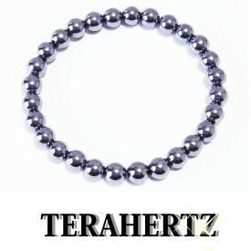 高品質 テラヘルツ 6mm丸玉健康ブレスレット内周約14cm 公的機関で品質を調べたテラヘルツです。安心をお届けします健康 ブレスレット