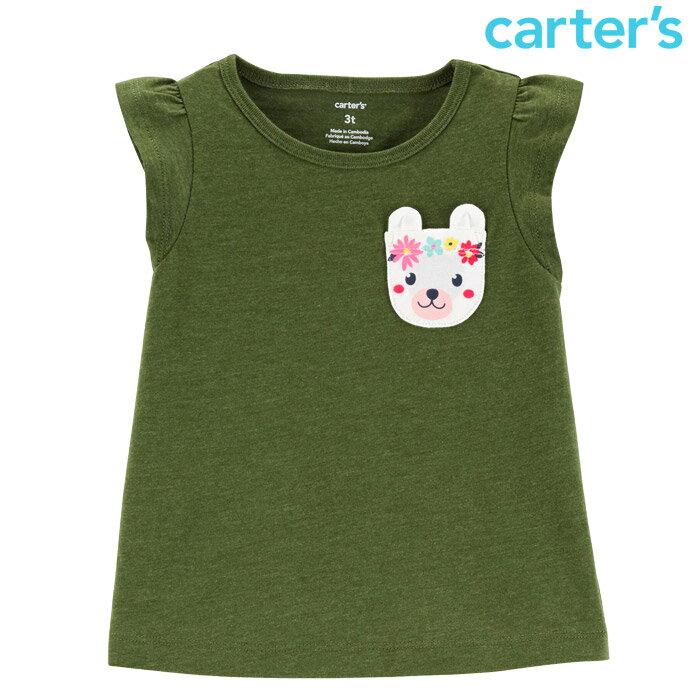 カーターズ Tシャツ キッズ 子供 女の子 出産祝い ワッペン アップリケ パッチワーク 半袖 シャツ【ゆうパケット対応】【あす楽対応】