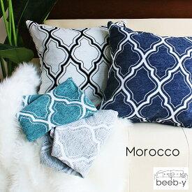 クッションカバー 45×45 モロッコ おしゃれ カフェ モロッコタイル モロッカン メール便送料無料 ギフト