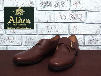 Alden #766 monk strap shoes /BROWN (2)