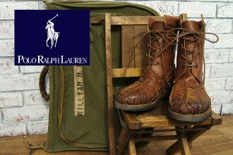 Ralph Lauren weave leather ANAKIN boots
