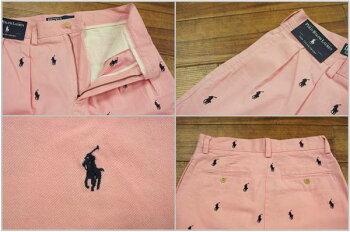 【POLObyRalphLauren】ラルフローレンマルチポニー刺繍コットンTYLERショーツ/PINK【あす楽対応】