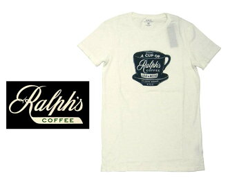 RALPH's COFFEE Ralph coffee T shirt/White
