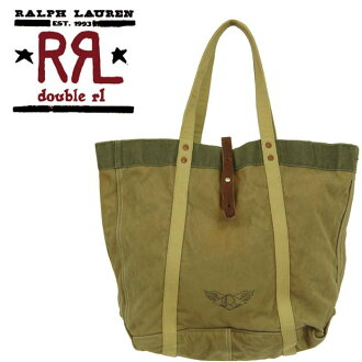 Ralph Lauren DOUBLE RL STDM 2 vintage MILITARY canvas tote bag