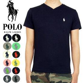 ポロ ラルフローレン POLO by Ralph Lauren ワンポイント ポニー Vネック Tシャツ