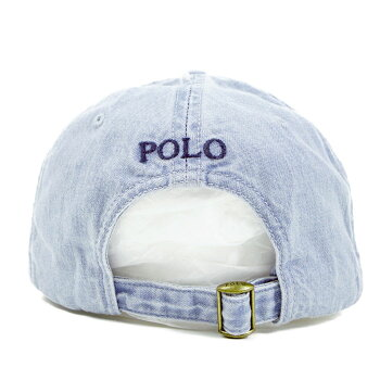 【POLObyRalphLauren】ポロラルフローレンワンポイントポニーウォッシュ加工キャップ/BLUE【あす楽対応】