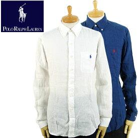 ラルフローレン POLO Ralph Lauren ポケット付き ワンポイントポニー リネン ボタンダウン シャツ