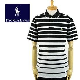 ラルフローレン POLO Ralph Lauren PERFORMANCE グラデーション ボーダー ポロシャツ 黒/白
