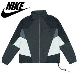 ナイキ ウーブン ジャケット Nike Sportswear Hooded Woven Jacket ブラック/グレー/ホワイト