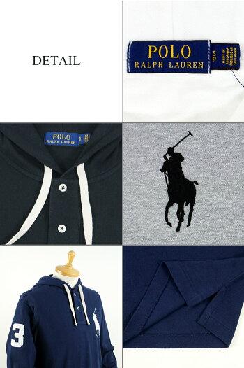 ラルフローレンPOLORalphLaurenBIGPONYビッグポニーフード付き長袖ポロシャツ5カラー