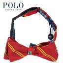 ラルフローレン POLO Ralph Lauren イタリア製 シルク シールド ボウタイ レッド/イエロー