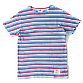 SUNNY SPORTS (サニースポーツ) マルチボーダーコットンクルーネックTシャツ ブルー 36 【メンズ】【美品】【K2351】【中古】
