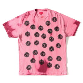 【プライスダウン】Supreme (シュプリーム) 18A/W タイダイ 染め 梵字 柄 Tシャツ (Om Tee) カーディナル L 【メンズ】【K2341】【あす楽☆対応可】