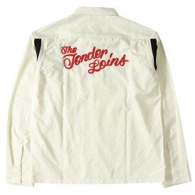TENDERLOIN (テンダーロイン) ブランドロゴ刺繍ボーリングシャツ(T-BOWL SHT LONG) オフホワイト M 【メンズ】【美品】【K2236】【中古】【あす楽☆対応可】