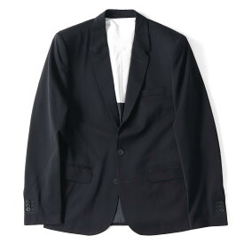Maison Martin Margiela (メゾンマルタンマルジェラ) H&M別注 ウール2Bテーラードジャケット ネイビー 46 【美品】【メンズ】【K2041】【中古】【あす楽☆対応可】