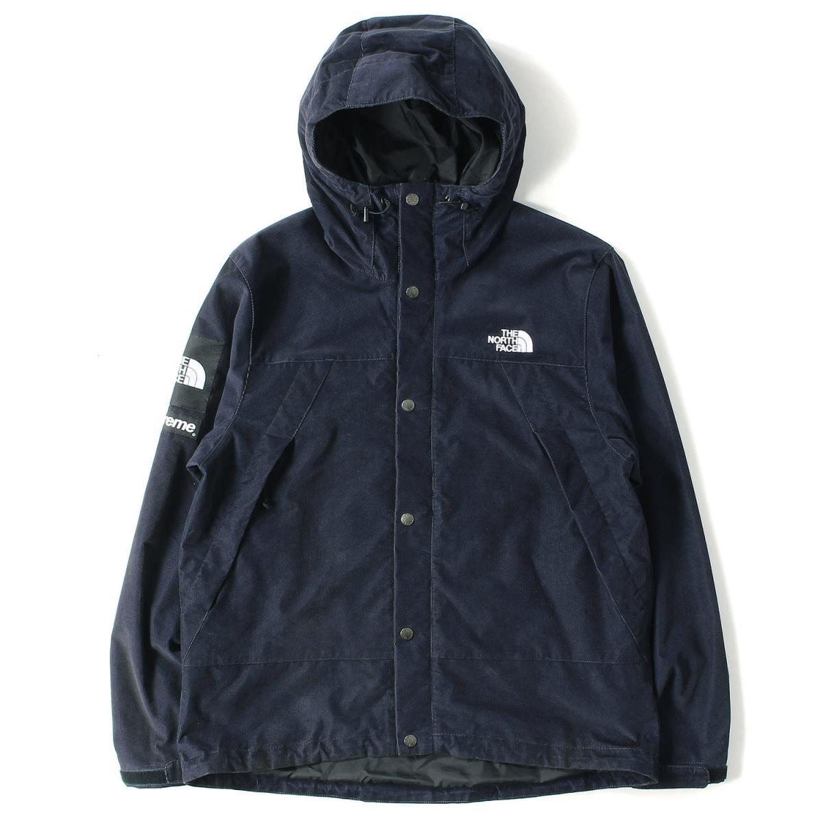 Supreme (シュプリーム) 12A/W ×THE NORTH FACE コーデュロイマウンテンパーカー(Mountain shell Jacket) ネイビー M 【メンズ】【K2081】【中古】【あす楽☆対応可】