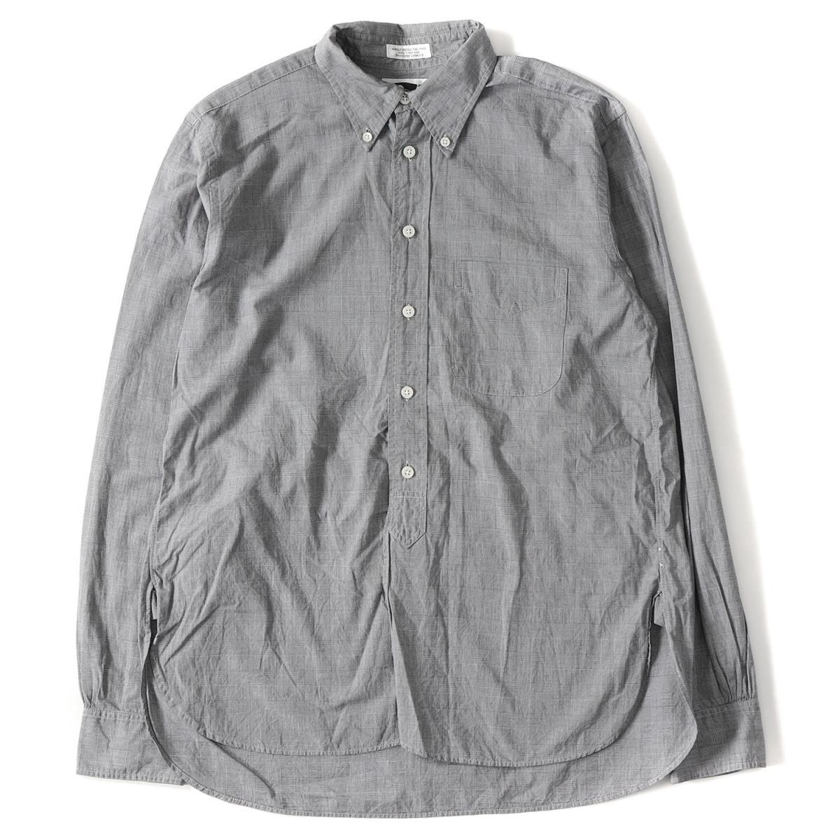 Engineered Garments (エンジニアドガーメンツ) チェック柄コットンボタンダウンシャツ ブラック×ホワイト XS 【メンズ】【K2156】【中古】【あす楽☆対応可】