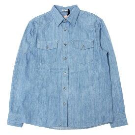 【プライスダウン】miu miu(ミュウミュウ) ポケット付き コットンデニムシャツ サックス 38 【レディース】【新品同様】【K2066】【中古】