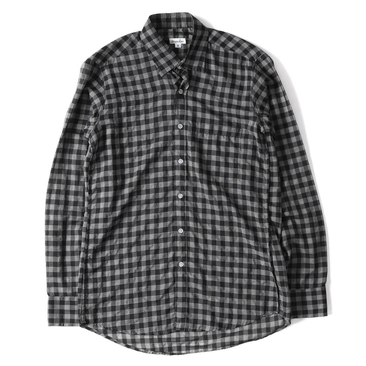 STEVEN ALAN (スティーブンアラン) ギンガムチェックボタンシャツ ブラック×グレー S 【メンズ】【美品】【K2066】【中古】