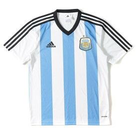 adidas (アディダス) 14-15 アルゼンチン代表 レプリカユニフォーム / サッカージャージ ホワイト×コロンビアブルー S 【メンズ】【美品】【K2305】【中古】【あす楽☆対応可】